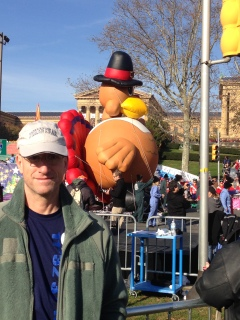 Chris at Macy's Thanksgiving Day Parade Philadelphia Pennsylvania