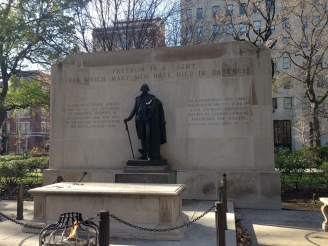 Statue of founding father in Philadelphia Pennsylvania