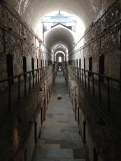 Interior hallways of Eastern State Penitentiary Philadelphia Pennsylvania