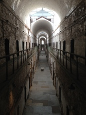 Interior hallways of Eastern State Penitentiary Philadelphia Pennsylvania