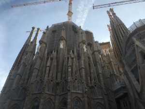 East exterior view of Sagrada Familia