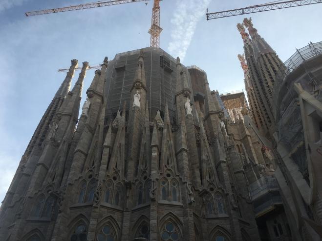 East exterior view of Sagrada Familia