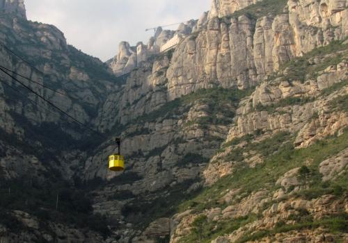 Teleferique to Monserrat Spain