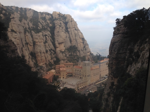 View of Montserrat from above