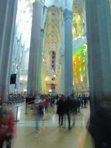 Inside of Sagrada Familia Barcelona
