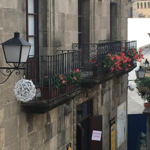 Poble espanyol exterior of spanish houses balconies