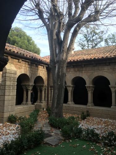 Exterior of monastery barcelona spain