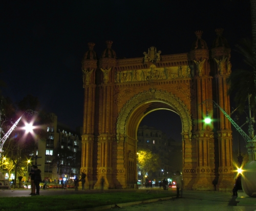Arch of Triump Barcelona Spain at night