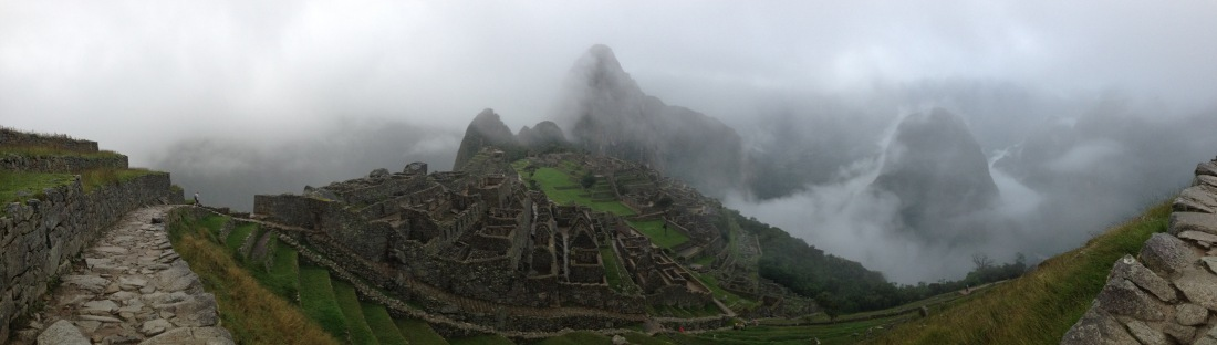 Panorama of Machu Picchu Peru