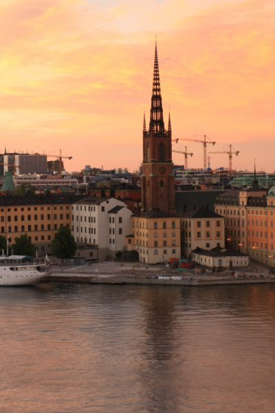 Stockholm Sweden Skyline at Sunset