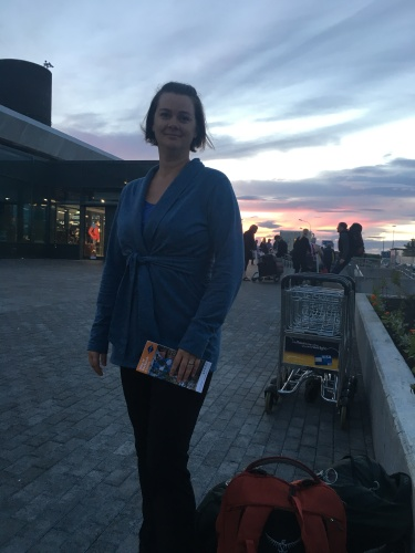 Deah in Iceland Midnight Sun