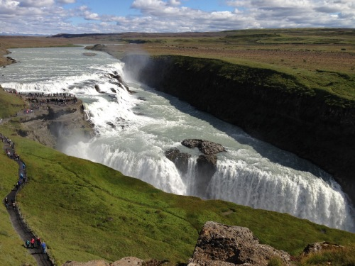 Iceland Gulfoss waterfall