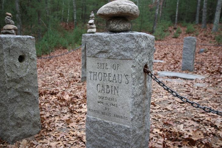 Thoreau's Cabin at Walden Monument MA