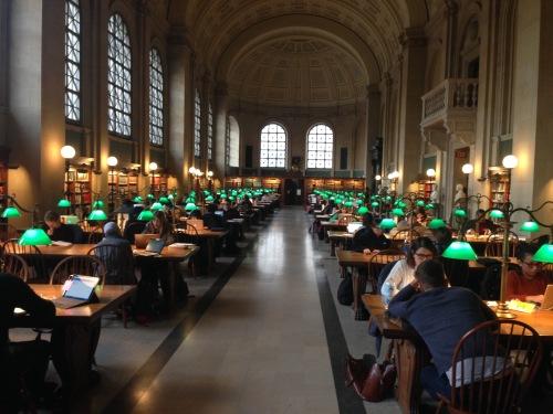 Boston Public Library Reading Room