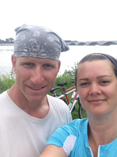 Deah and Chris ride the Mt Vernon Trail bikes
