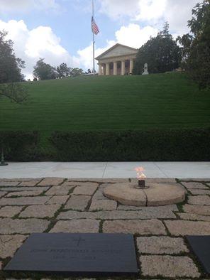 National Cemetery Virginia Eternal Flame Lee's House