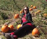 Deah at the Pumpkin Patch