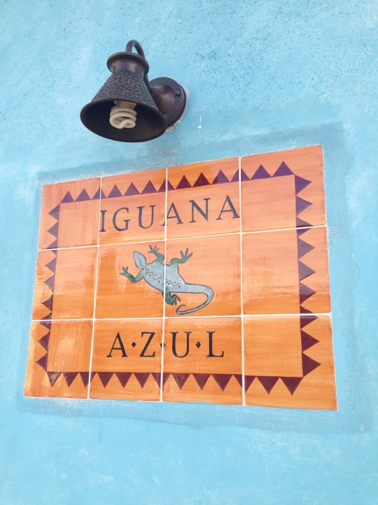 Front entrance of the Iguana Azul, Copan, Honduras