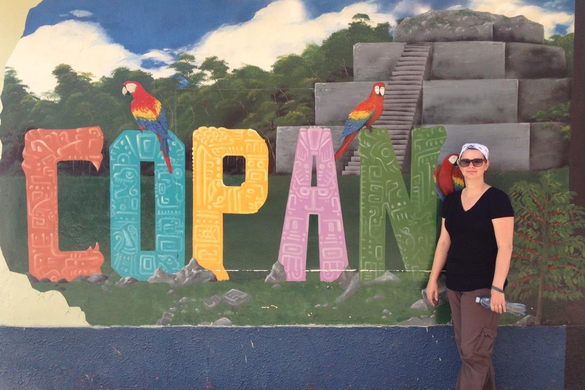 Deah in Copan Honduras sign