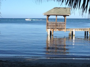 Dock and Ocean at Roatan, Honduras