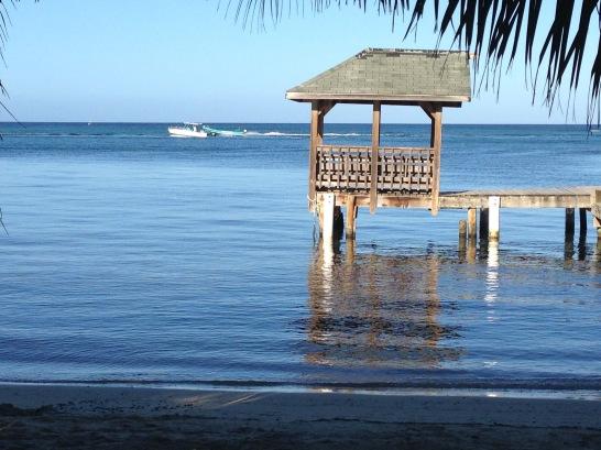 Dock and Ocean at Roatan, Honduras