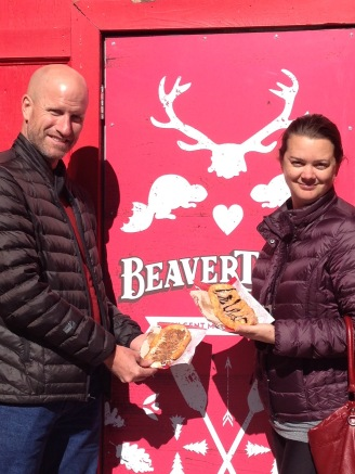 Chris and Deah Eat a Beavertail Canada