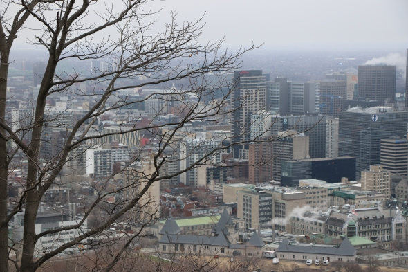 Montreal from the mountain Canada
