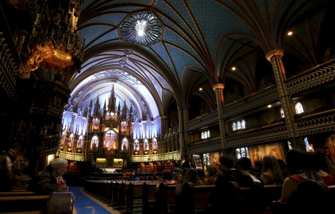 Inside the Montreal Cathedral Canada