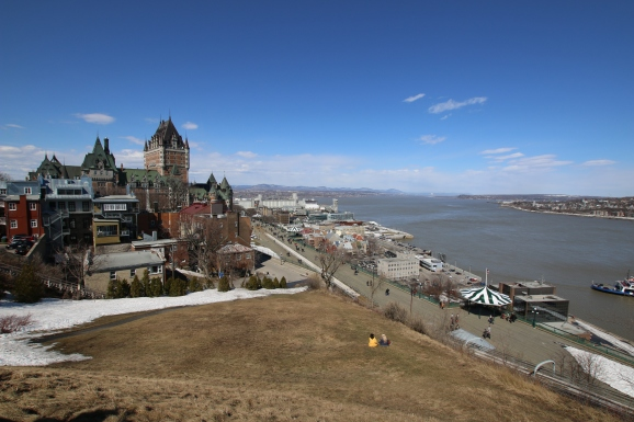 Quebec City from the fortress above Canada