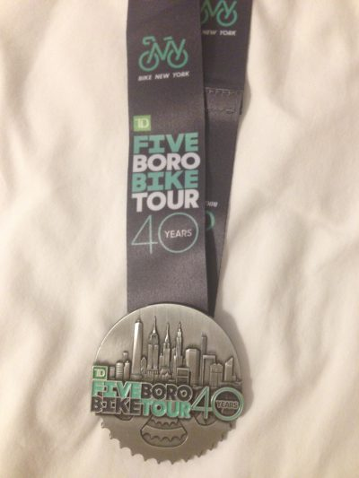 Five Boro Bike Tour Medal, New York City