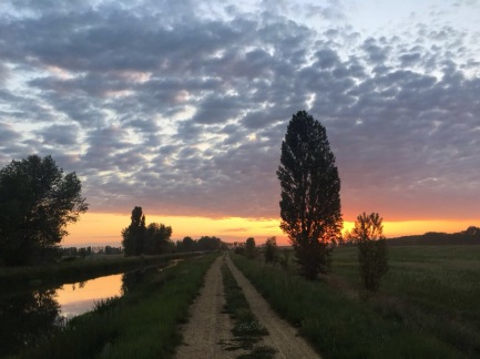 Sunrise on the Camino Santiago