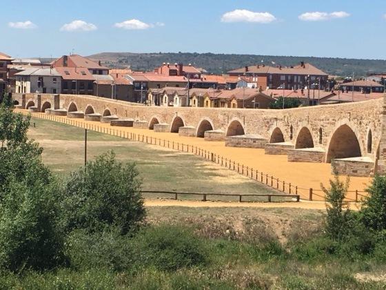 Rebuilt Roman Bridge, Camino Santiago