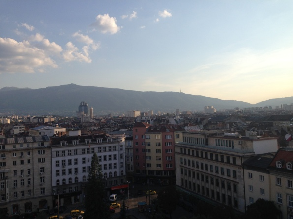 Sunset Sofia Bulgaria