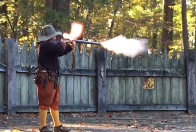 gunfire at Jamestown Settlement