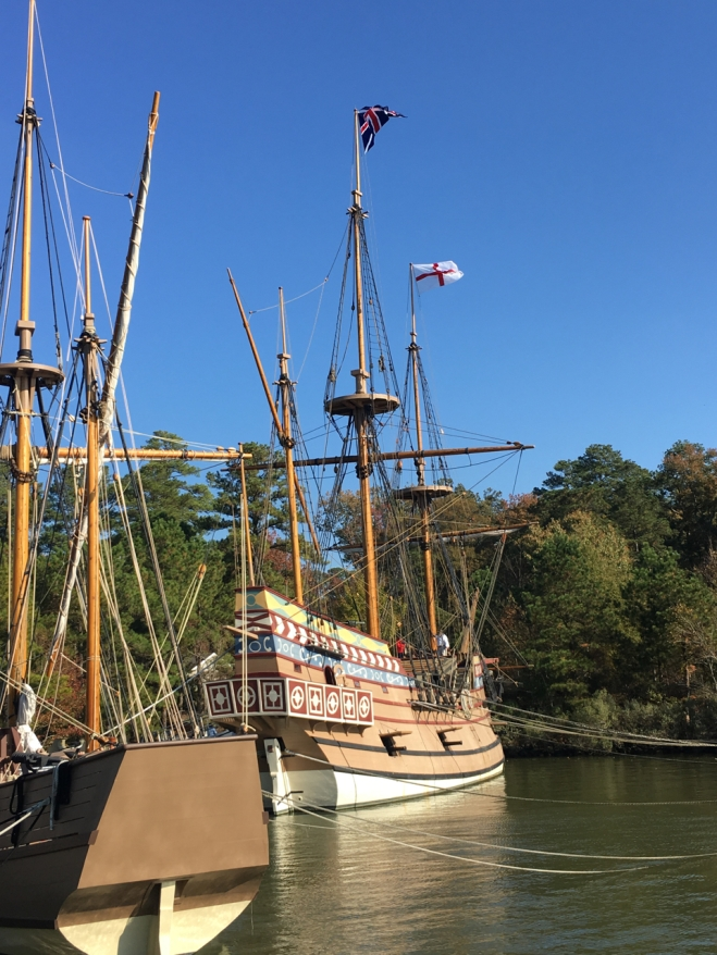 Colonists' ships at Jamestown Settlement Virginia