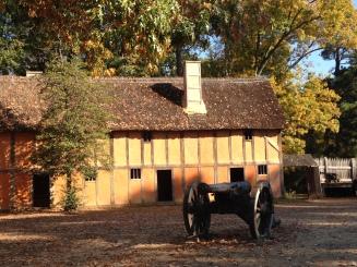 Inside the fort at Jamestown Settlement Virginia