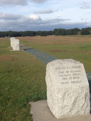 Flight Markers at Kitty Hawk North Carolina Outer Banks