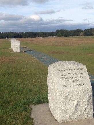 Flight Markers at Kitty Hawk North Carolina Outer Banks