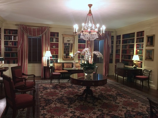white house tour library