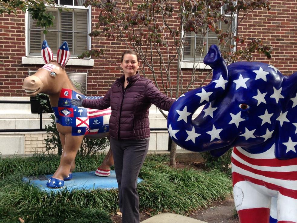 donkey and elephant statues in Washington DC