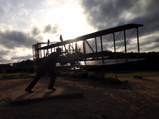 Wright Brothers sculpture at Kitty Hawk Outer Banks