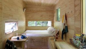 interior view of a tiny home getaway
