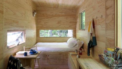 interior view of a tiny home getaway