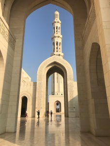 outside the Sultan Qaboos Grand Mosque Muscat Oman
