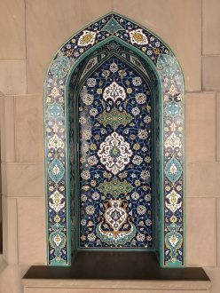 tiles at grand mosque sultan qaboos oman muscat