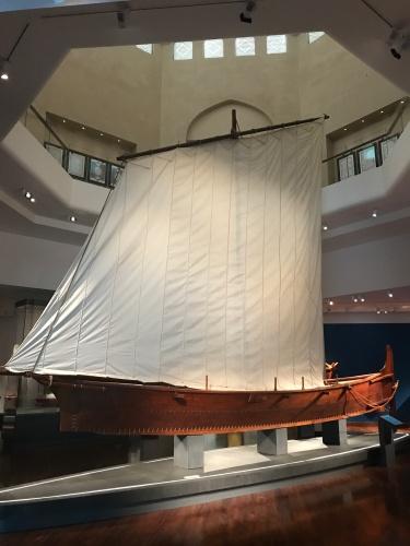 replica of sailing boat sinbad voyage muscat oman