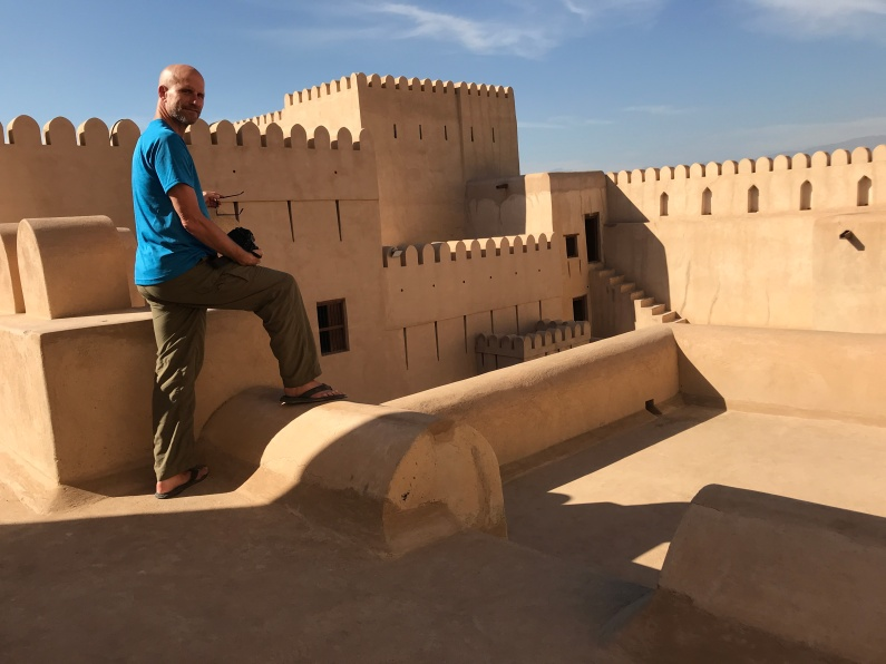 Chris at Fort Nizwa Oman