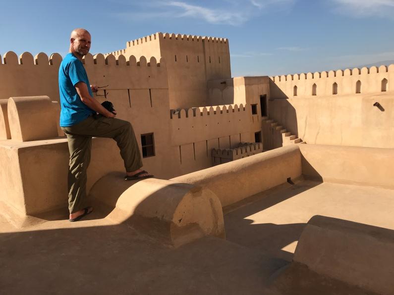 Chris at Fort Nizwa Oman