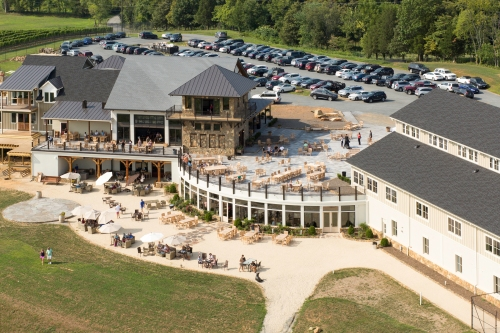 aerial view of Stone Tower Winery Northern Virginia