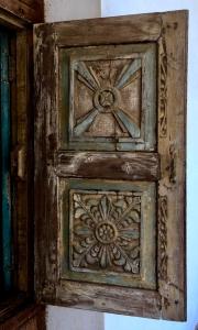 Ornately Carved Window in Massawa Eritrea